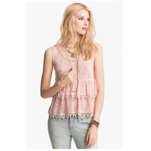 Free People Daydream Tiered Lace Tank